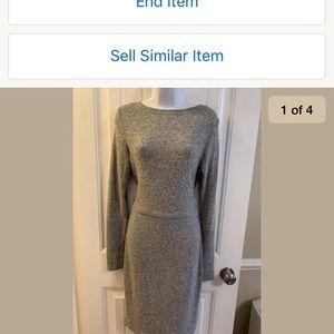 Express Super Soft Dress, Marled Gray, Size Small